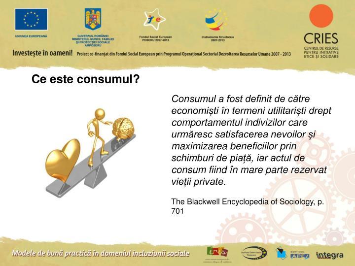 Ce este consumul?