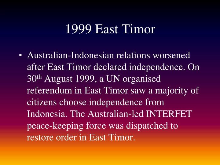 1999 East Timor