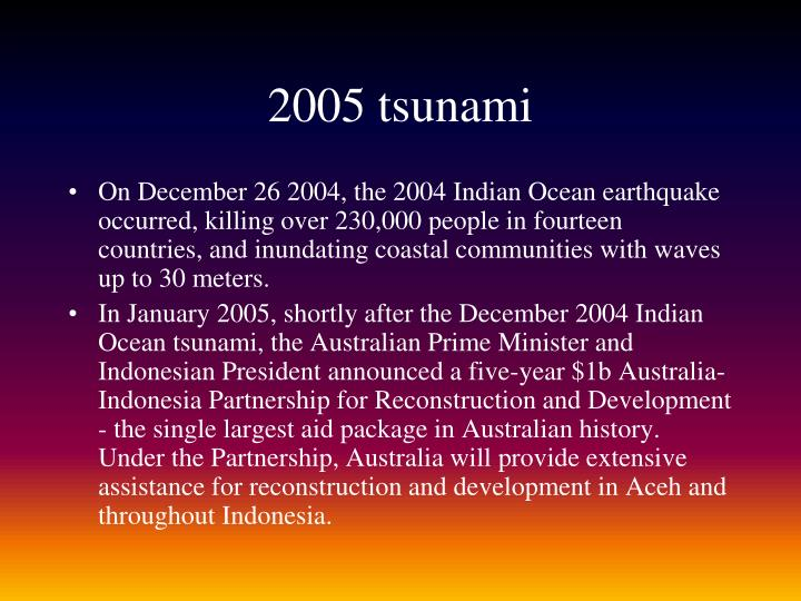 2005 tsunami