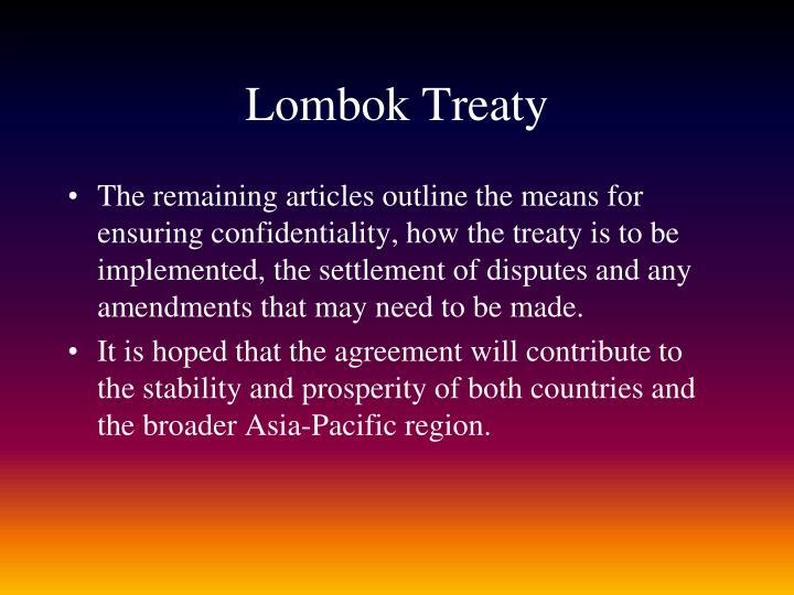 Lombok Treaty