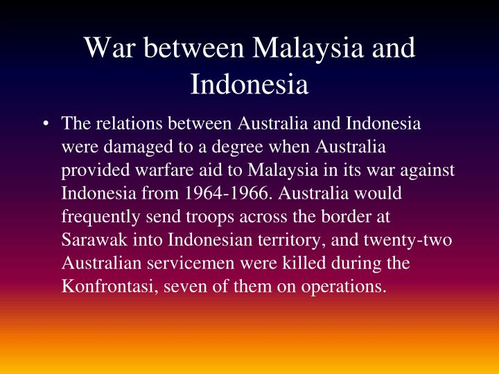 War between Malaysia and Indonesia