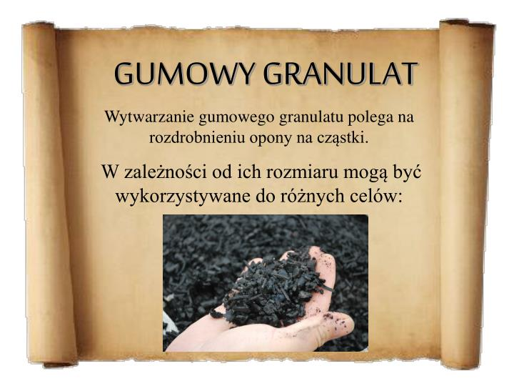 GUMOWY GRANULAT