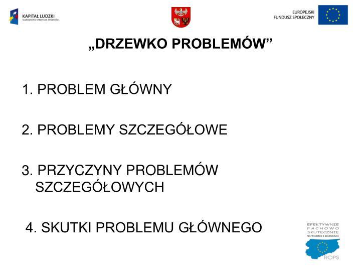 """""""DRZEWKO PROBLEMÓW"""""""