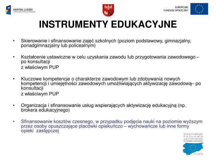 INSTRUMENTY EDUKACYJNE