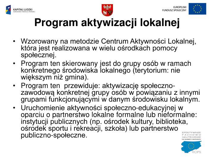 Program aktywizacji lokalnej