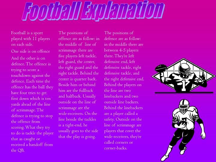 Football Explanation