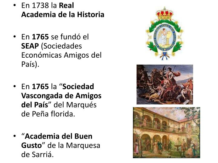 En 1738 la