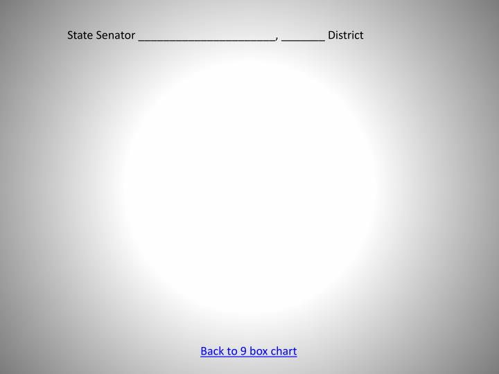 State Senator ______________________, _______ District