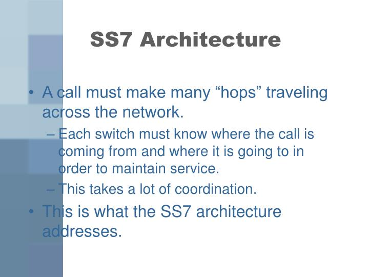 SS7 Architecture