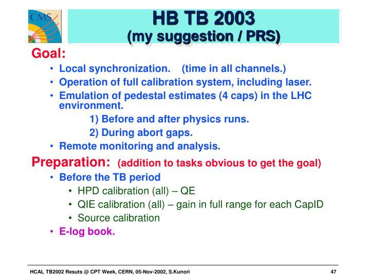 HB TB 2003
