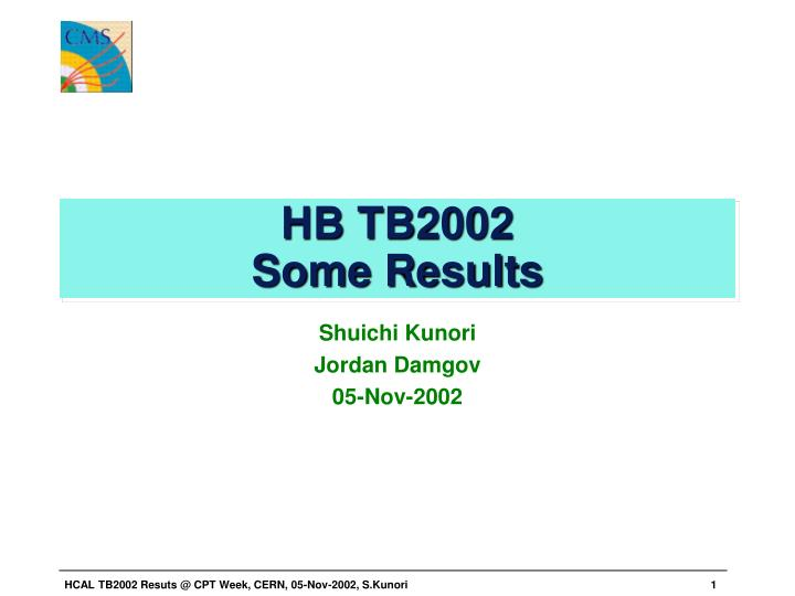 Hb tb2002 some results