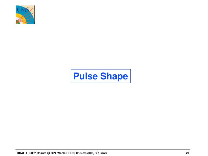 Pulse Shape