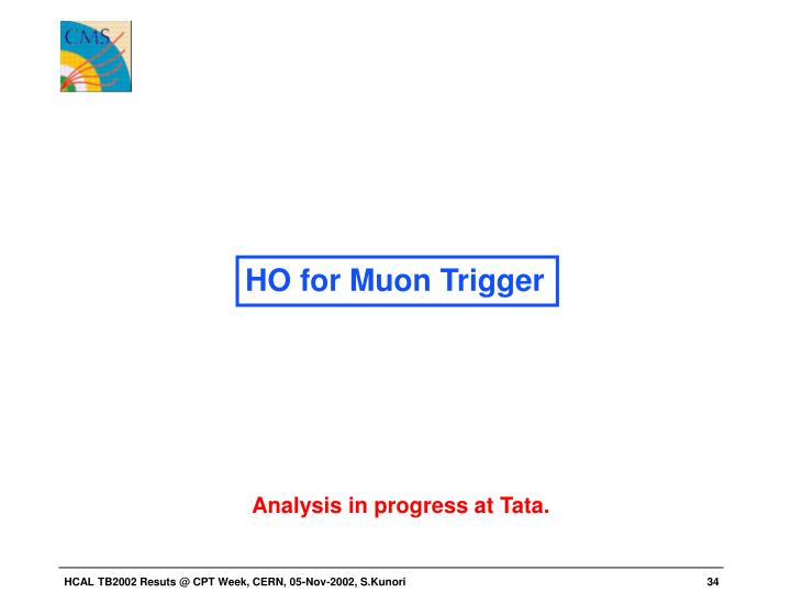 HO for Muon Trigger