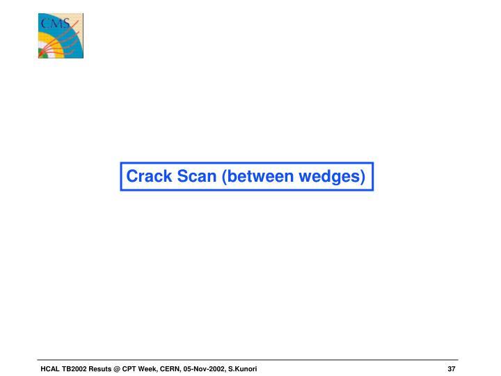 Crack Scan (between wedges)