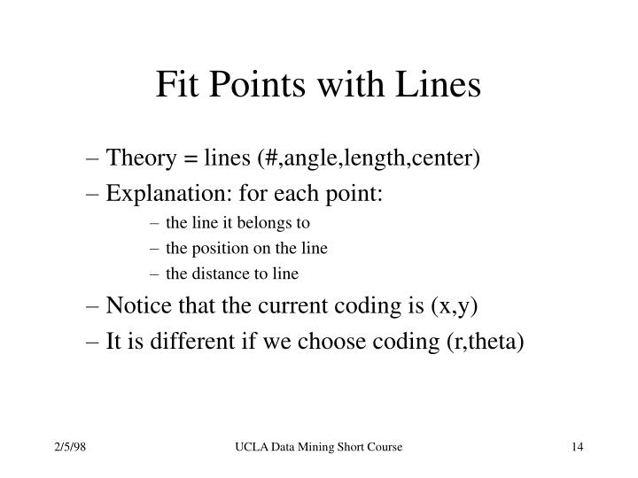 Fit Points with Lines