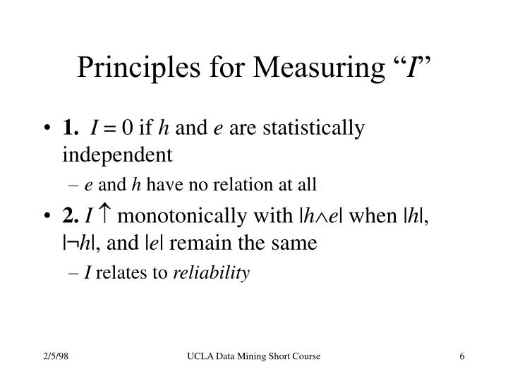 Principles for Measuring ""