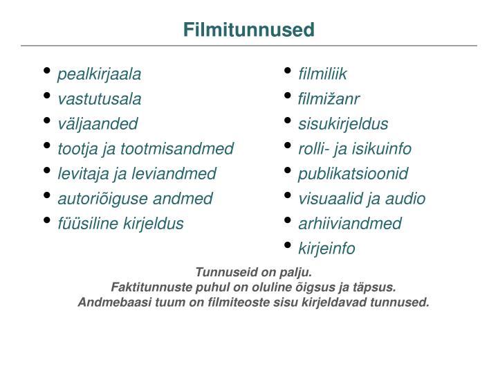 Filmitunnused