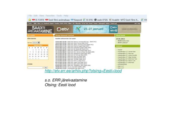http://etv.err.ee/arhiiv.php?otsing=Eesti+lood
