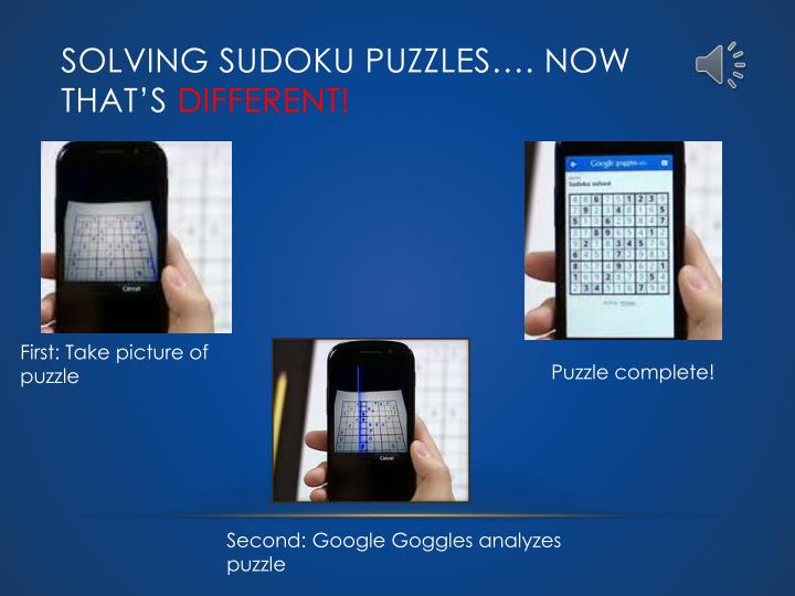 Solving Sudoku Puzzles…. Now