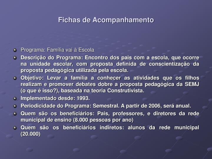 Fichas de Acompanhamento