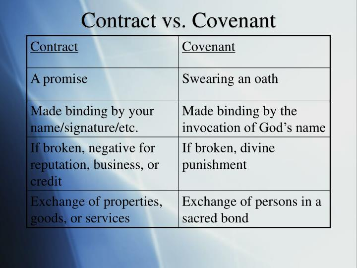 Contract vs. Covenant