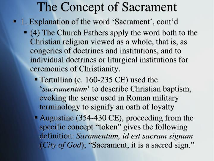 The Concept of Sacrament