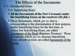 the effects of the sacraments
