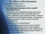the effects of the sacraments1