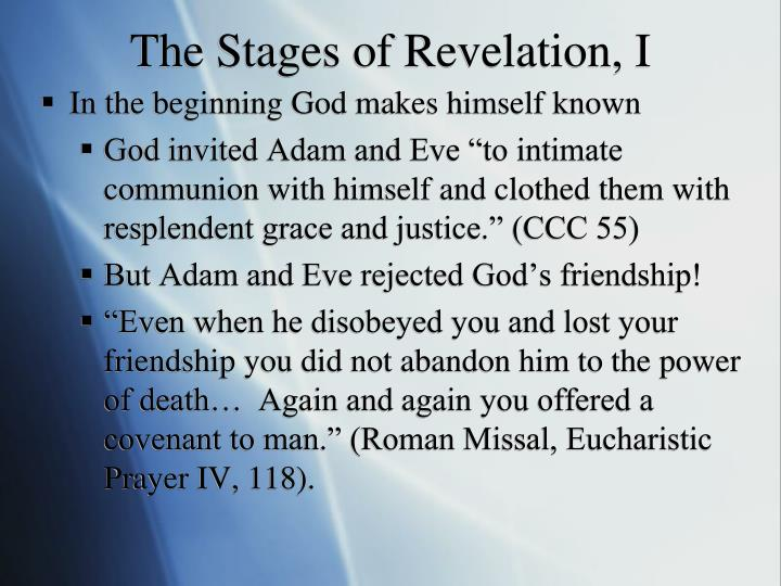 The Stages of Revelation, I