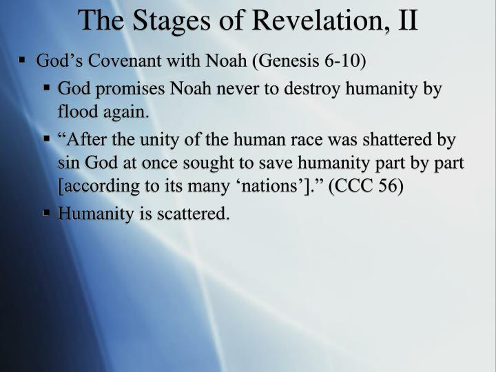 The Stages of Revelation, II
