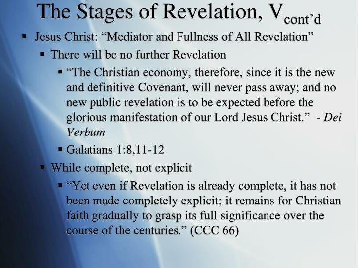 The Stages of Revelation, V