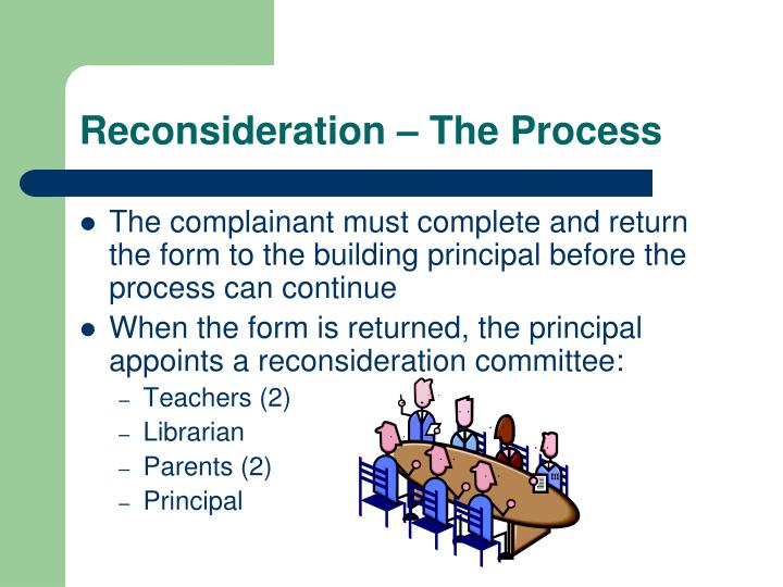Reconsideration – The Process