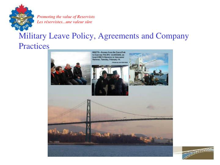 Military Leave Policy, Agreements and Company Practices