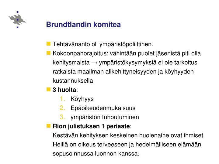 Brundtlandin komitea