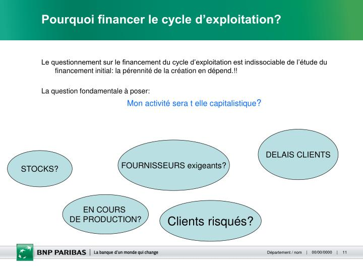 Pourquoi financer le cycle d'exploitation?
