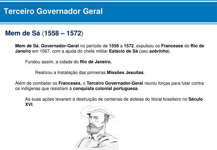 Terceiro Governador Geral