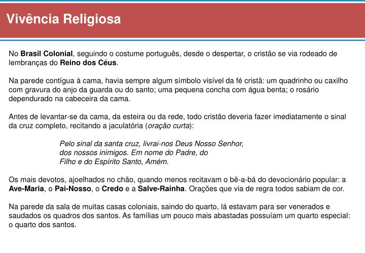 Vivência Religiosa