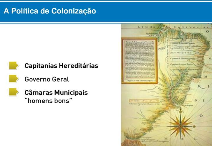 A Política de Colonização