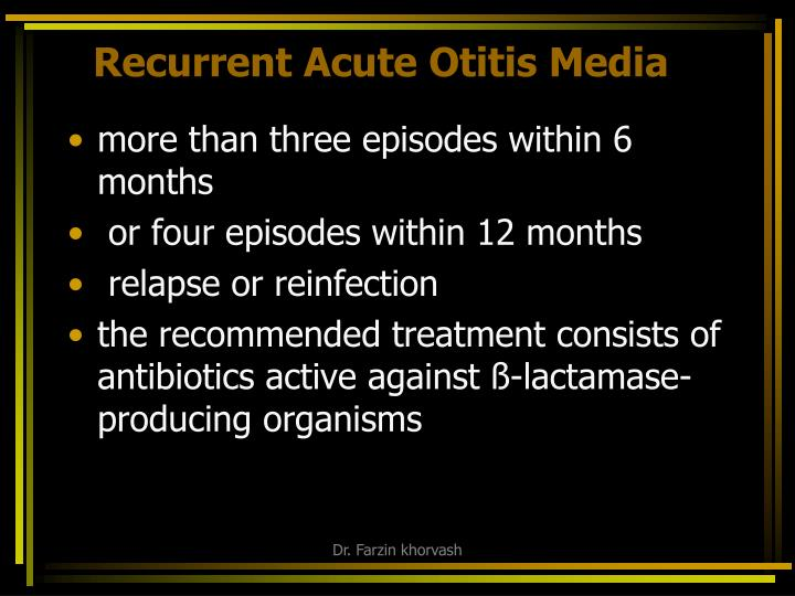 Recurrent Acute Otitis Media