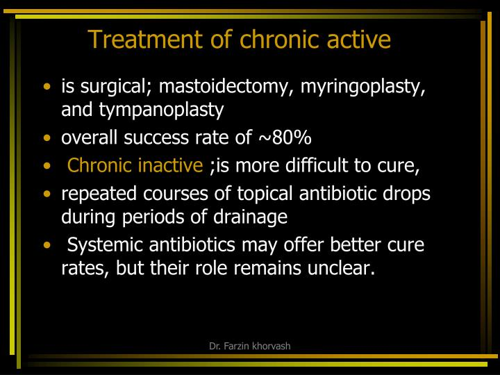 Treatment of chronic active