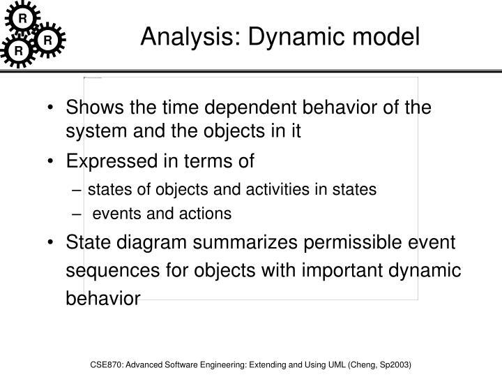 Analysis: Dynamic model
