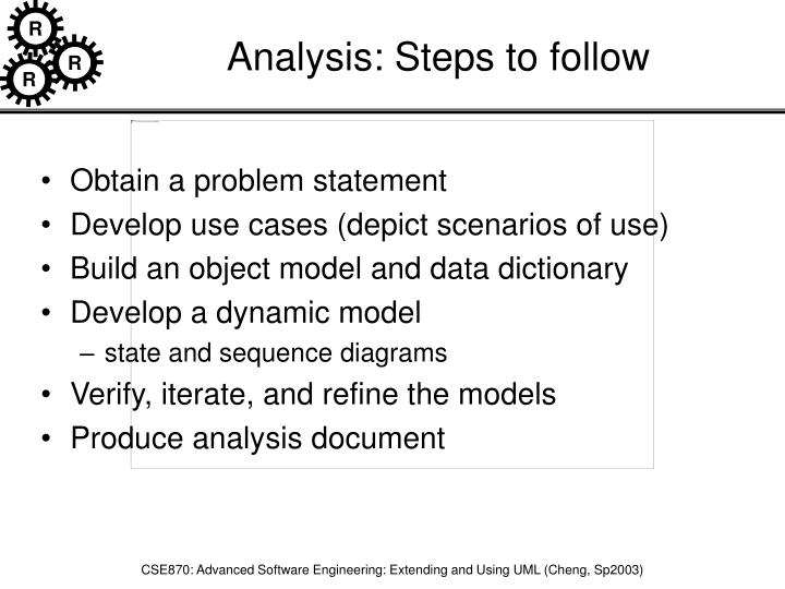 Analysis: Steps to follow