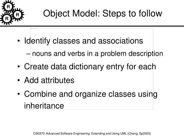 Object Model: Steps to follow