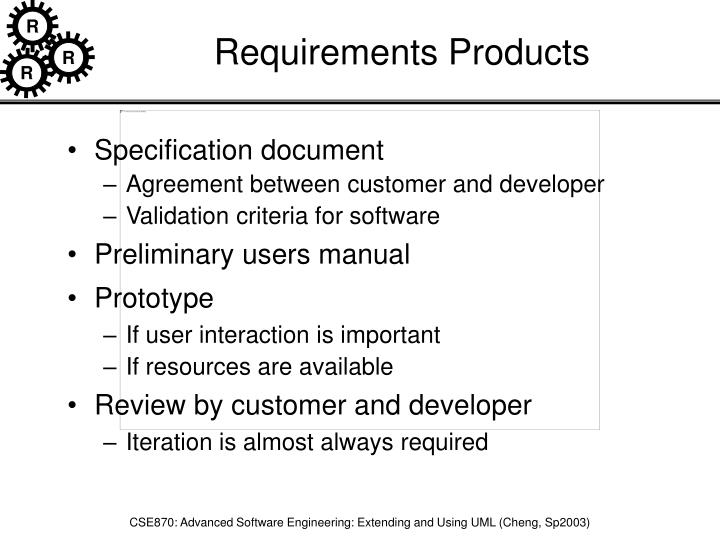 Requirements Products