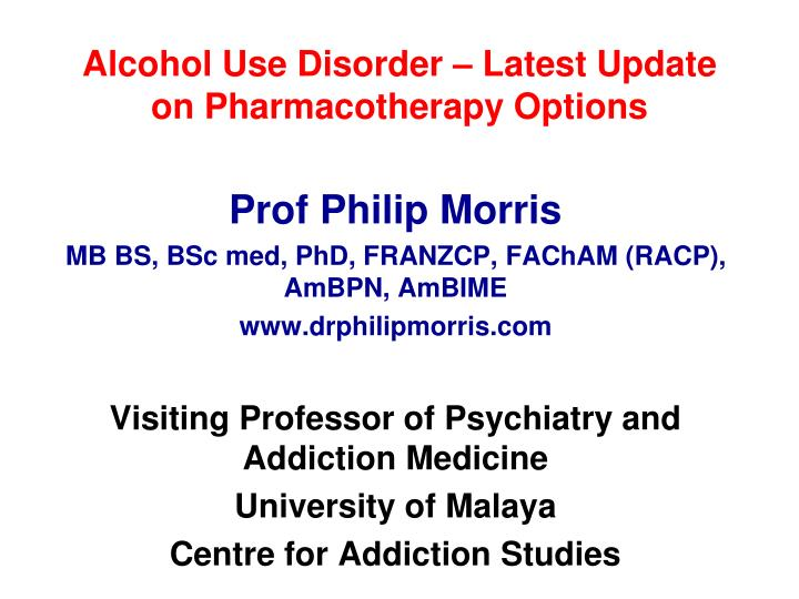 Use of Pharmacotherapies in the Treatment of Alcohol Use