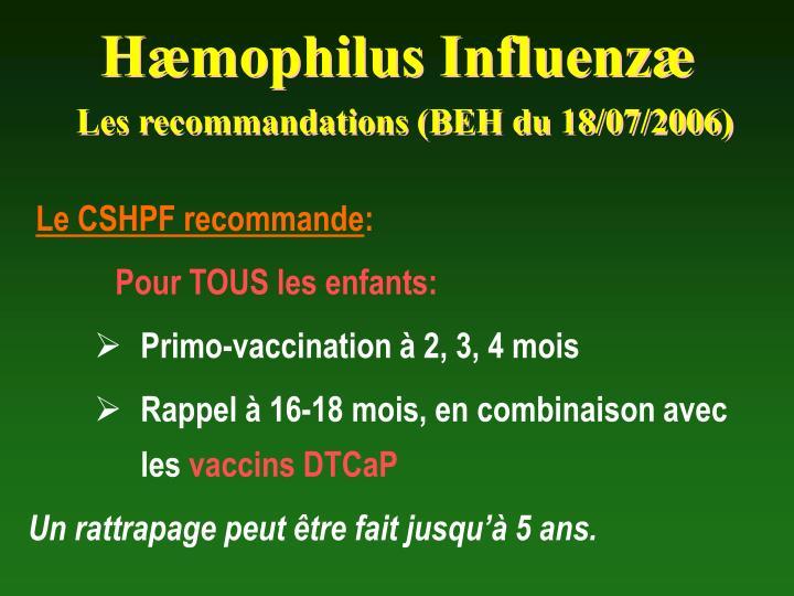 Hæmophilus Influenzæ