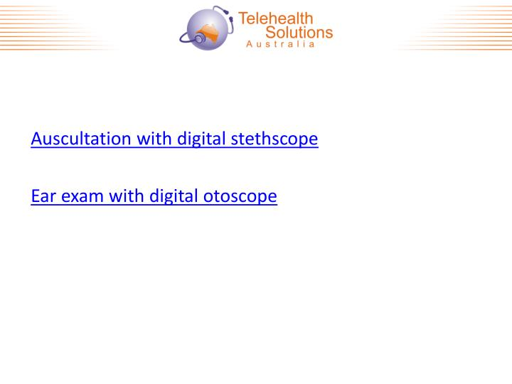 Auscultation with digital stethscope