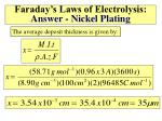 faraday s laws of electrolysis answer nickel plating1