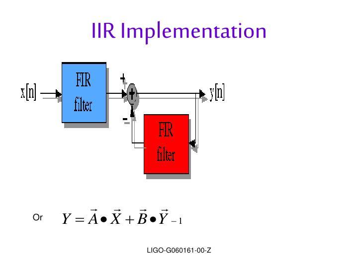 IIR Implementation