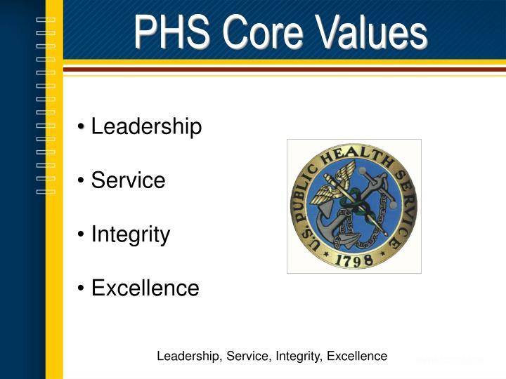 PHS Core Values